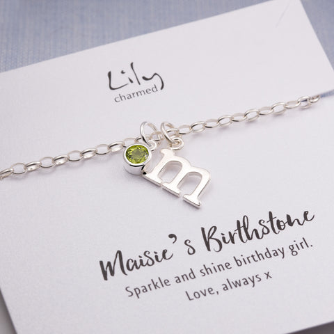 Birthstone Bracelet by Lily Charmed