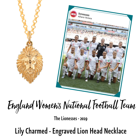 Englands Womens Football Team The Lionesses Lily Charmed Jewellery