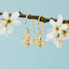 Gold Bee Hook earrings by Lily Charmed