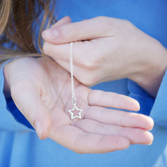 Open Star Necklace by Lily Charmed