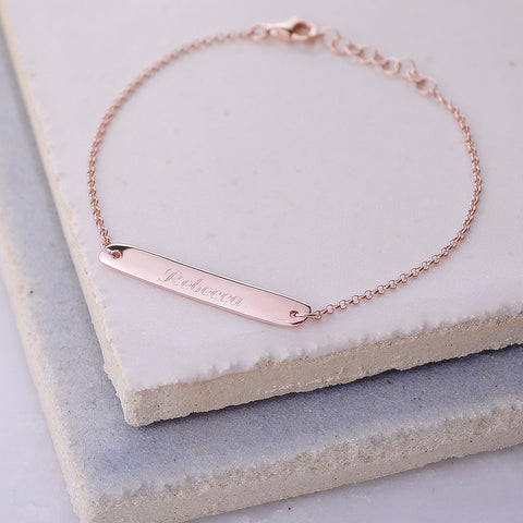 Rose Gold Horizontal Bar Bracelet as worn by Jodie Whittaker Doctor Who