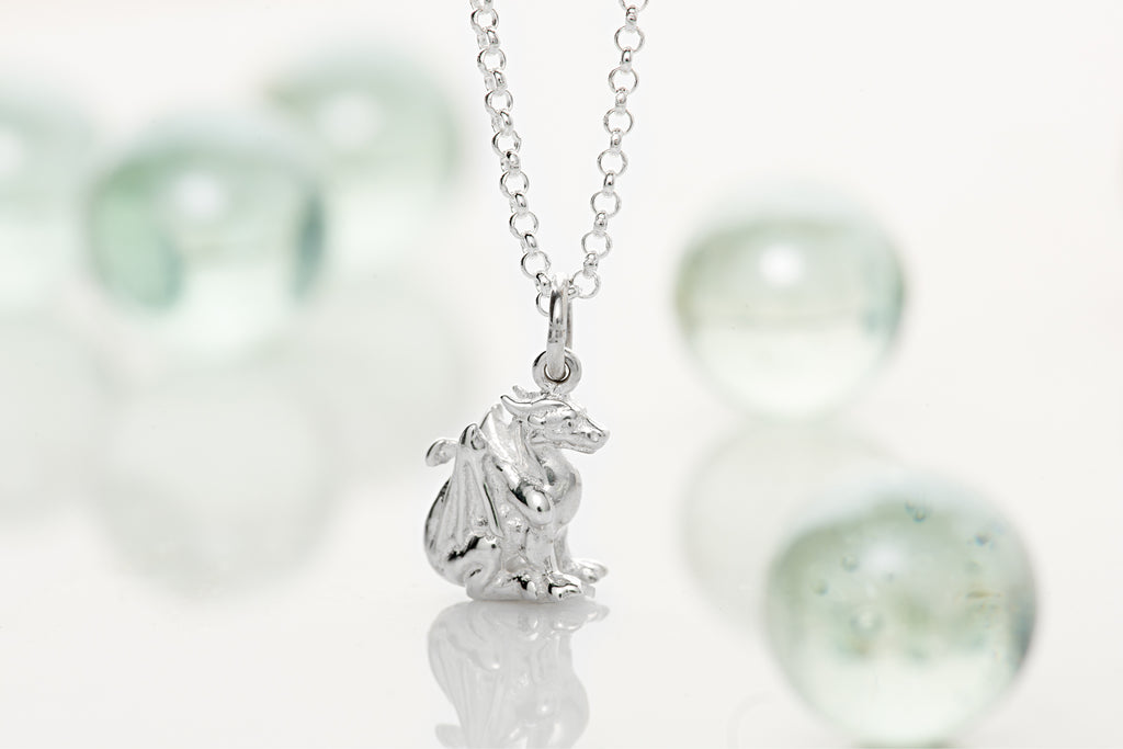 Silver Dragon Necklace by Lily Charmed