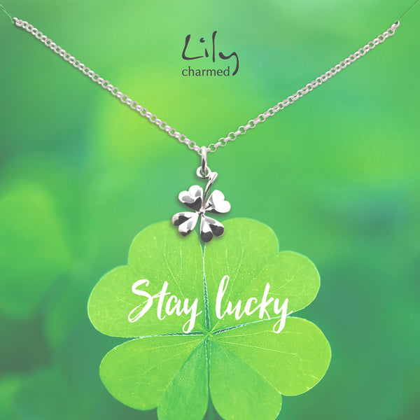 Stay Lucky Good Luck Charm Necklace by Lily Charmed