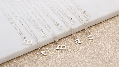 Silver Letter Charm Necklaces