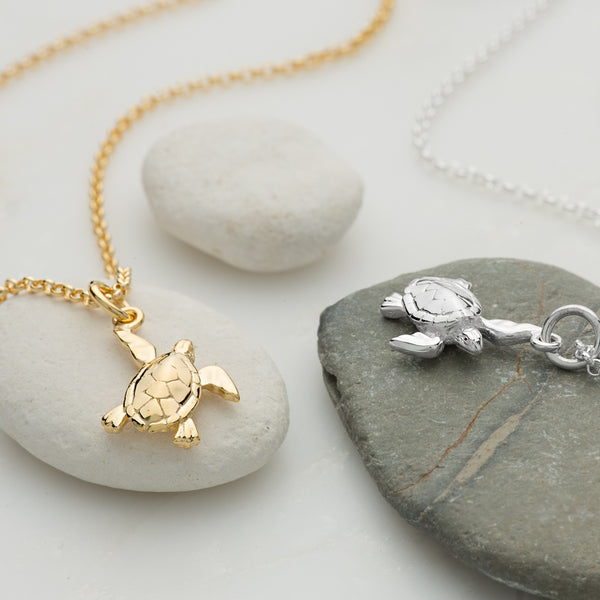 Personalised Turtle Necklace by Lily Charmed