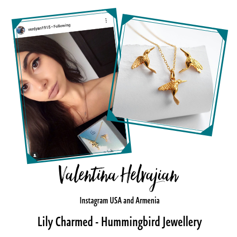 Instagram Star Valentina Humminfbird Jewellery Set Lily Charmed
