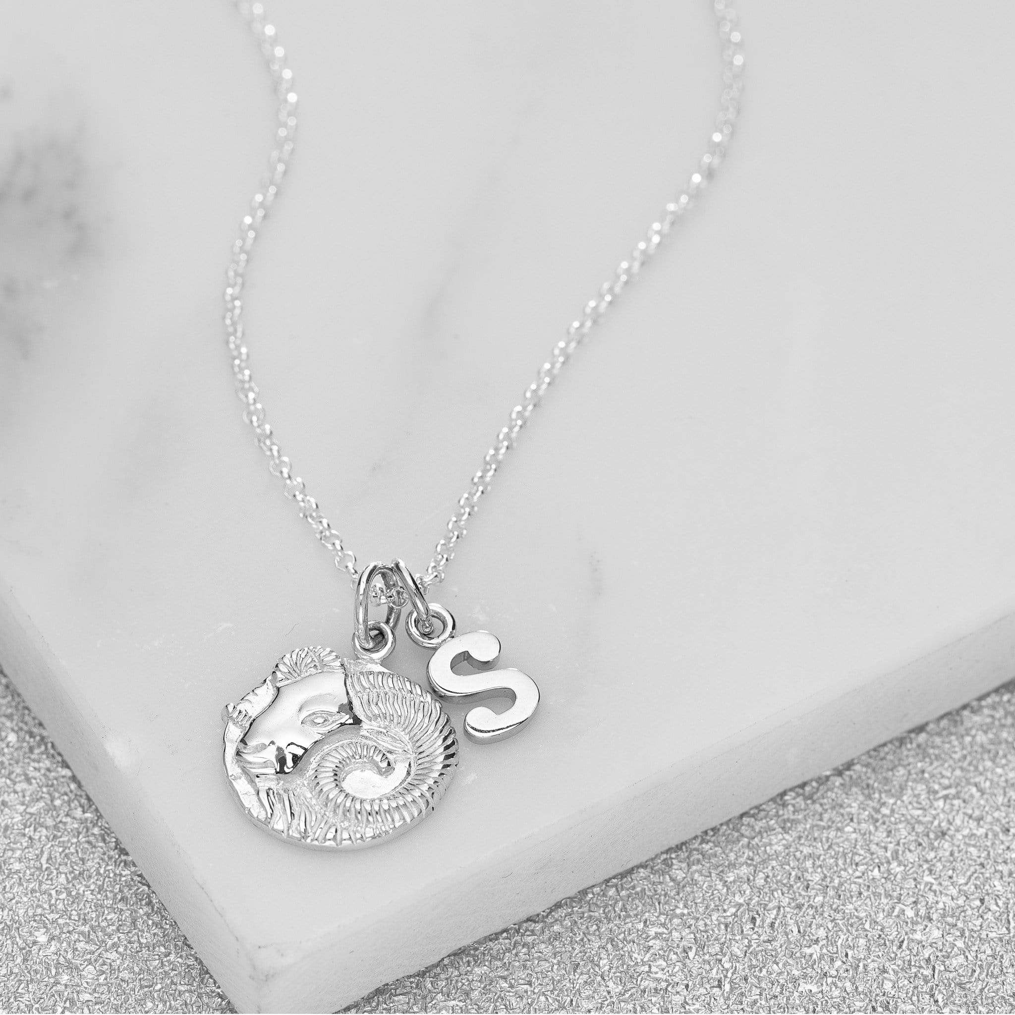 Personalised Silver Aries Zodiac Necklace - Lily Charmed