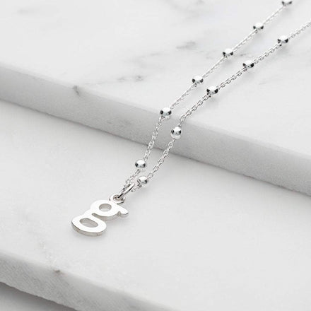 Personalised Silver Satellite Chain Initial Necklace