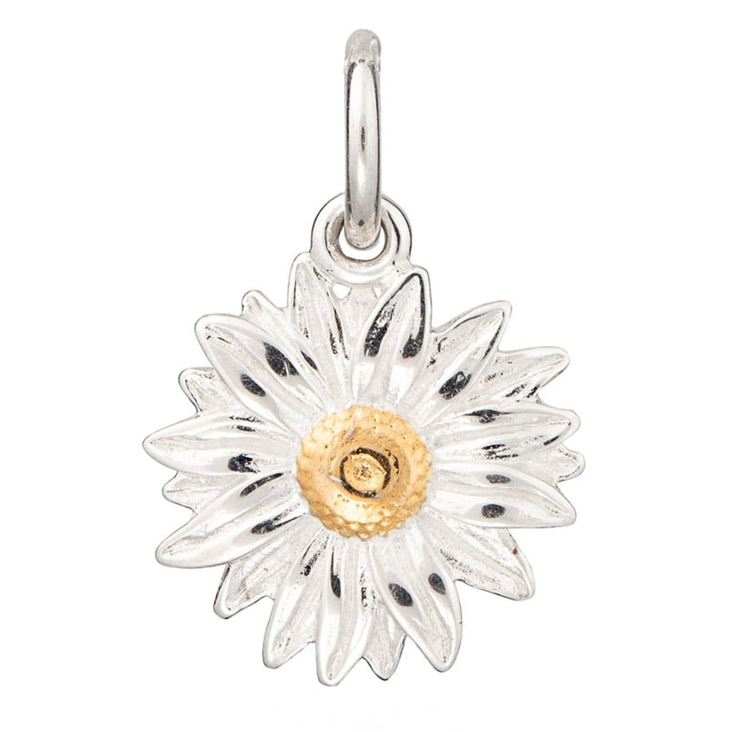 Silver Daisy Charm - Lily Charmed