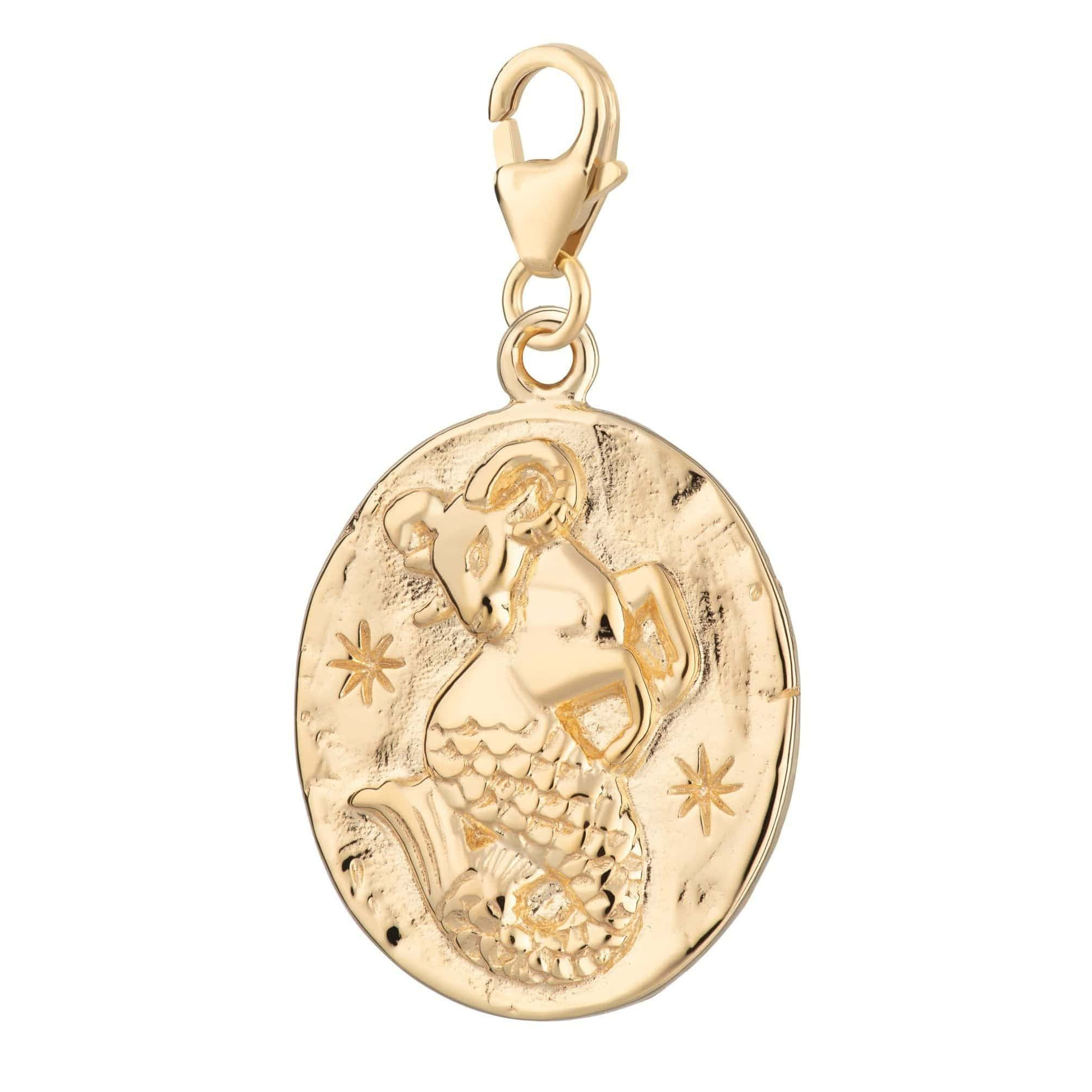 Gold Plated Capricorn Zodiac Charm