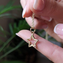 9 Carat Gold Open Star with Ruby Necklace by Lily Charmed