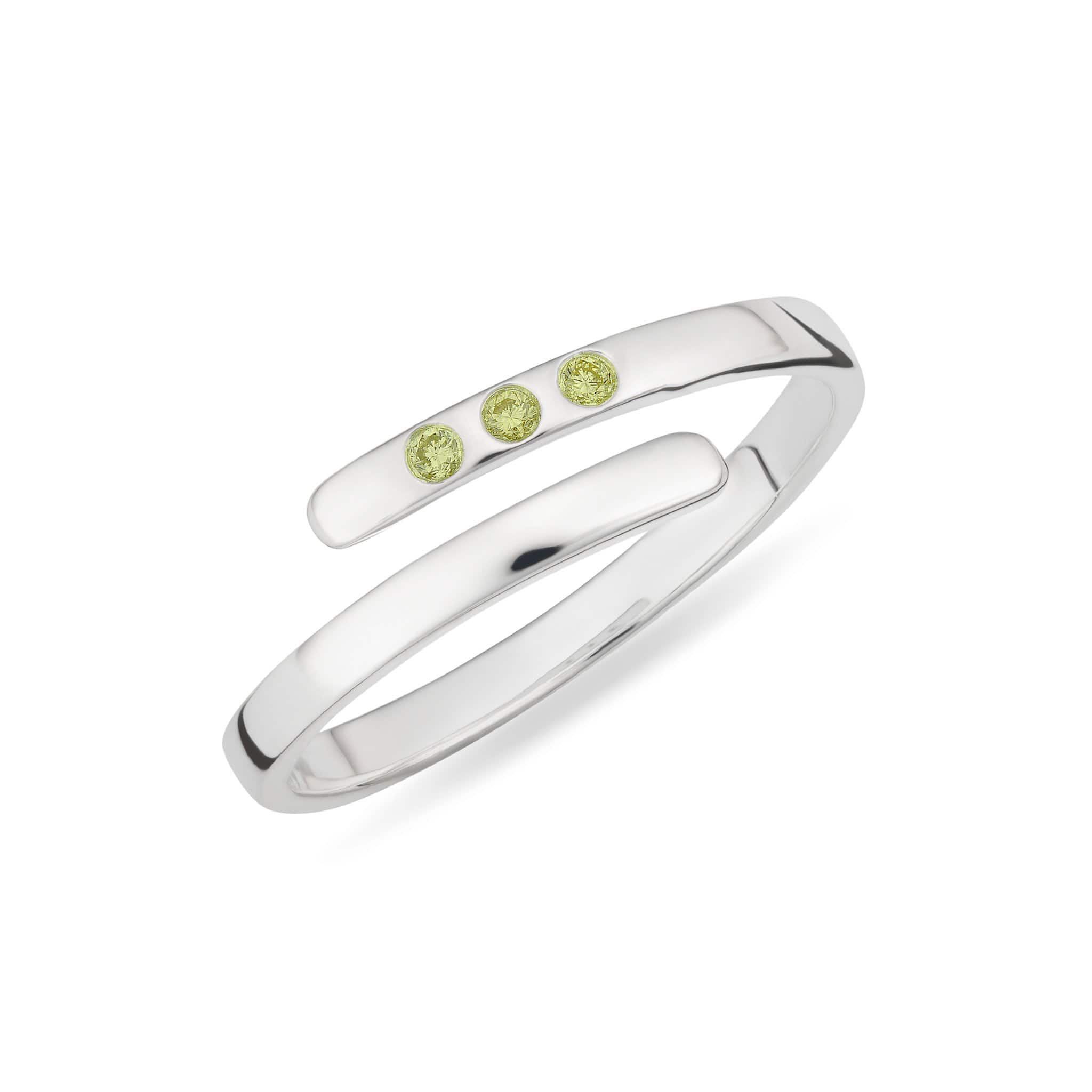 August Birthstone Open Ring, Peridot - Lily Charmed