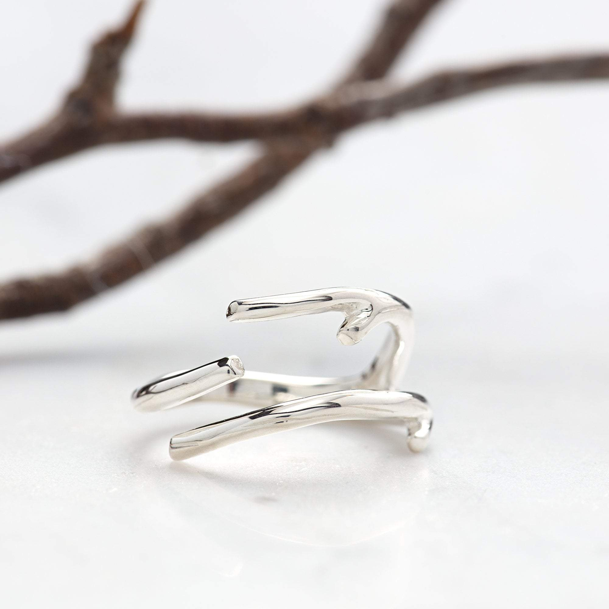 Silver Branch Ring - Lily Charmed