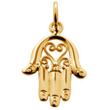 Gold Plated Fatima Hand Charm - Lily Charmed