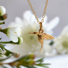 Personalised Gold Plated Hummingbird Necklace - Lily Charmed