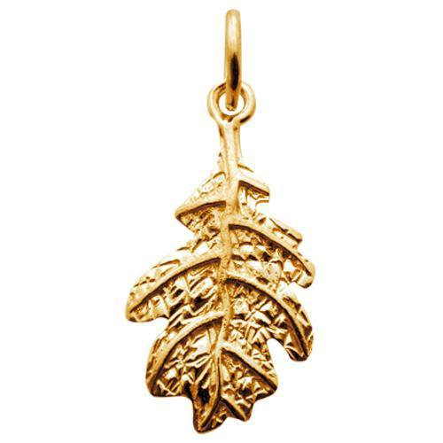 Gold Plated Oak Leaf Charm - Lily Charmed