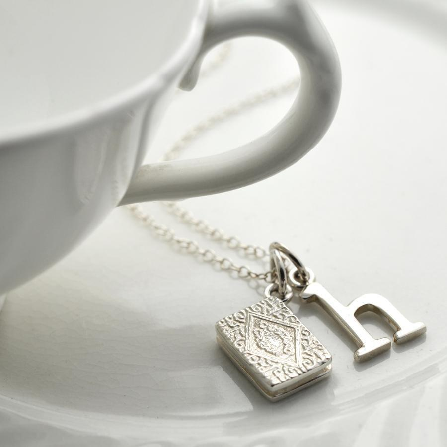 Personalised Silver Custard Cream Necklace - Lily Charmed
