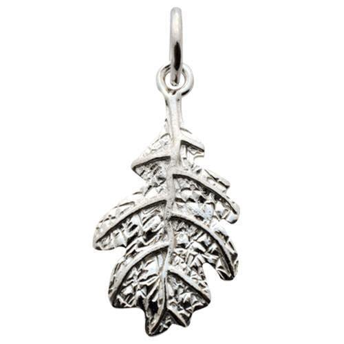 Silver Oak Leaf Charm by Lily Charmed