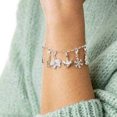 Lily Charmed Lobster Clasp Bracelet
