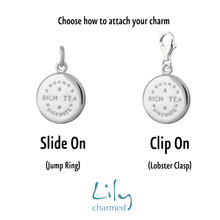 Silver Rich Tea Charm - Lily Charmed