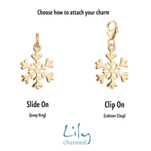 Gold Plated Snowflake Charm