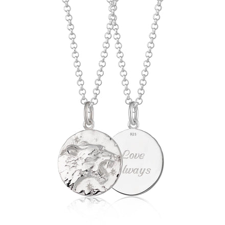 Engraved Silver Leo Zodiac Necklace - Lily Charmed