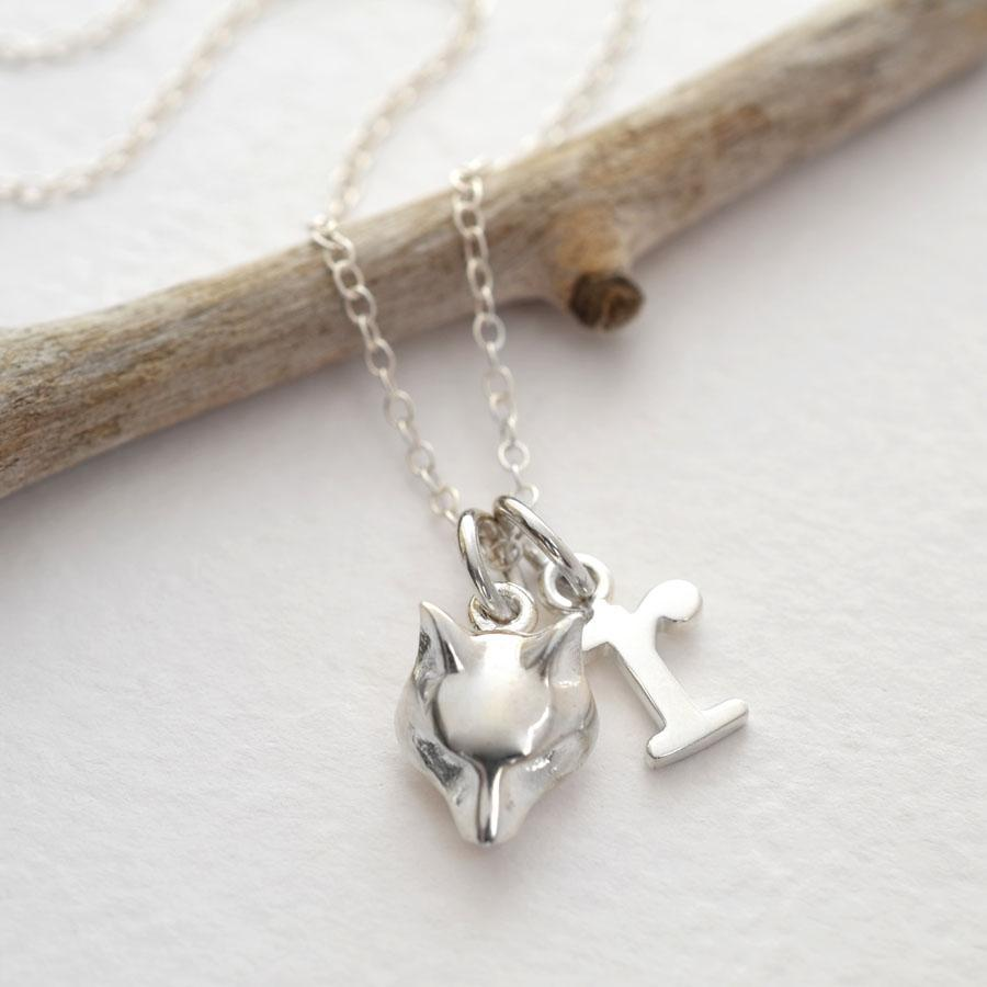 Personalised Silver Fox Necklace - Lily Charmed