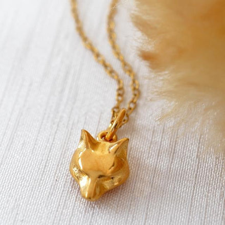Personalised Gold Plated Fox Necklace - Lily Charmed