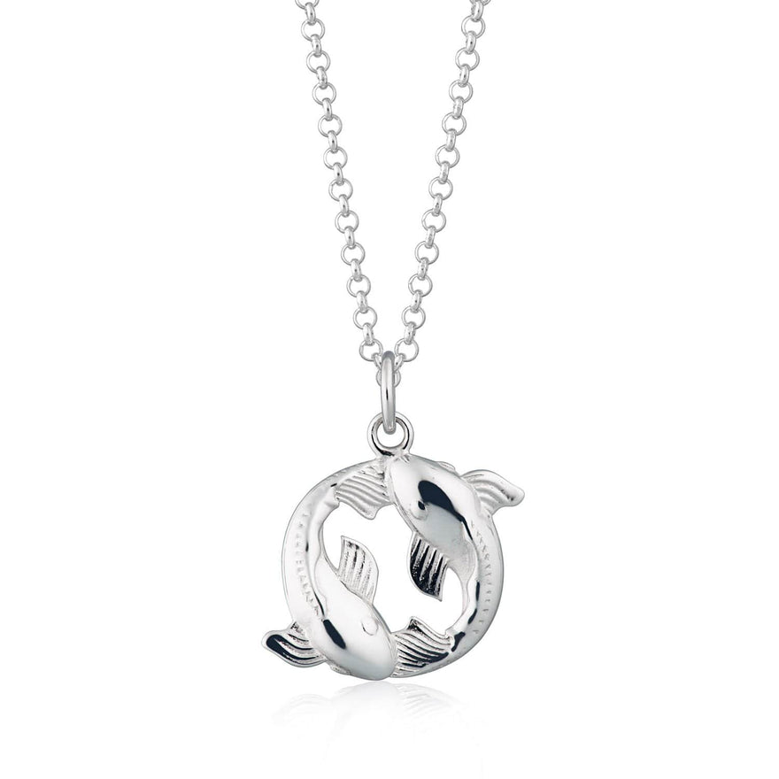 Personalised Silver Koi Carp Necklace