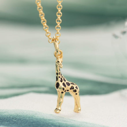 Children's Personalised Gold Plated Giraffe Necklace - Lily Charmed