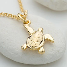 Personalised Gold Plated Turtle Necklace - Lily Charmed