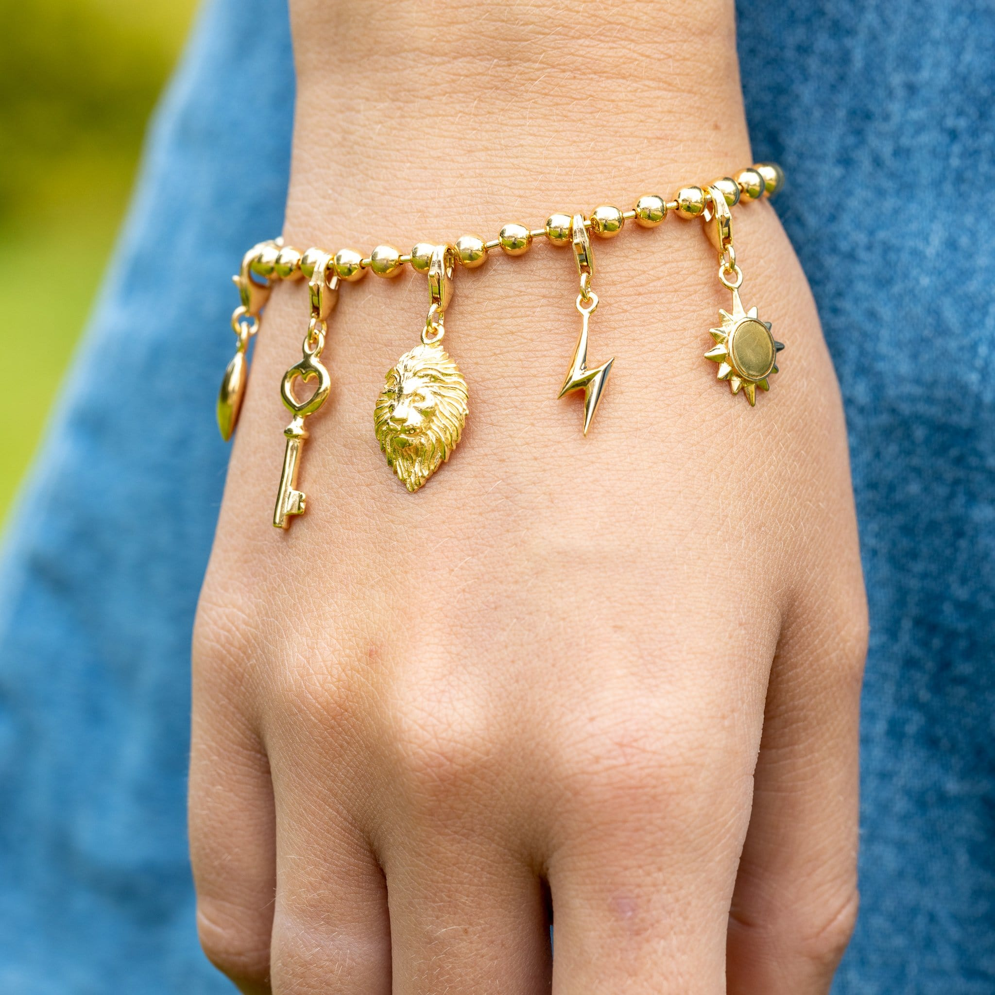 Gold Plated Rich Tea Charm