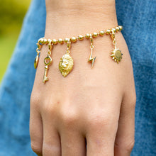 Gold Plated Clip on Charm Bracelet by Lily Charmed