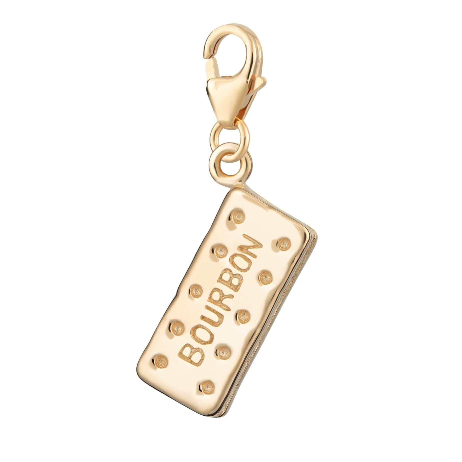 Gold Plated Bourbon Biscuit Charm