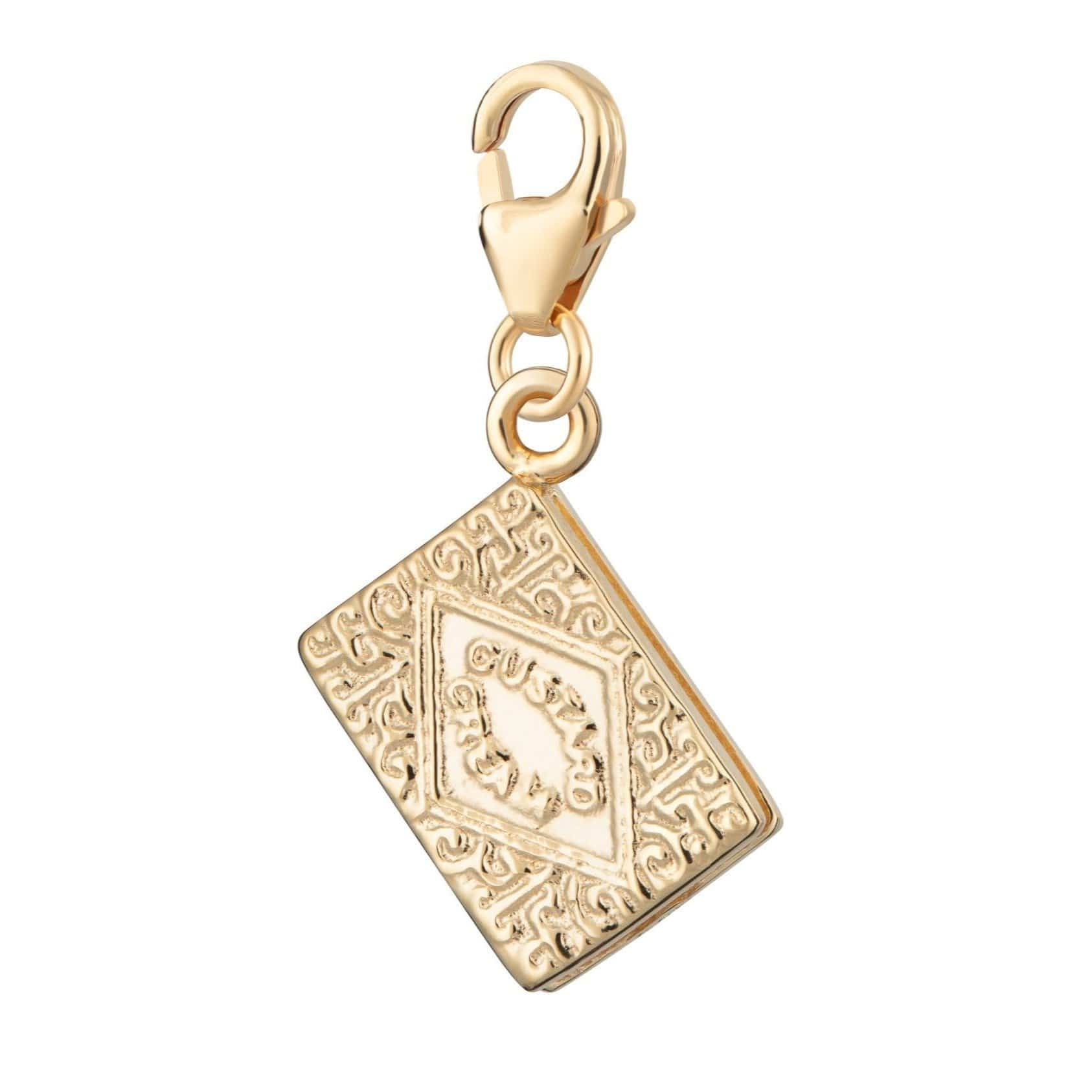 Gold Plated Custard Cream Charm