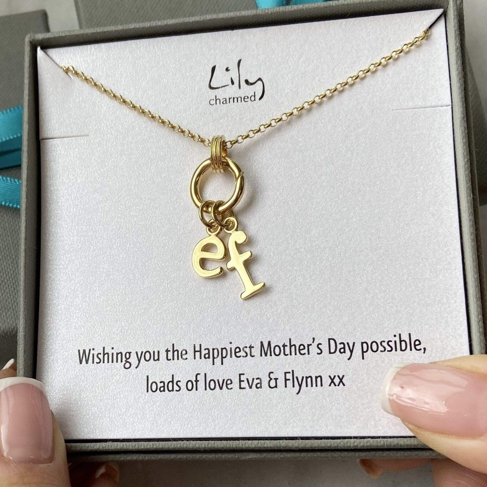 Personalised Gold Plated Eternity Charm Collector Necklace