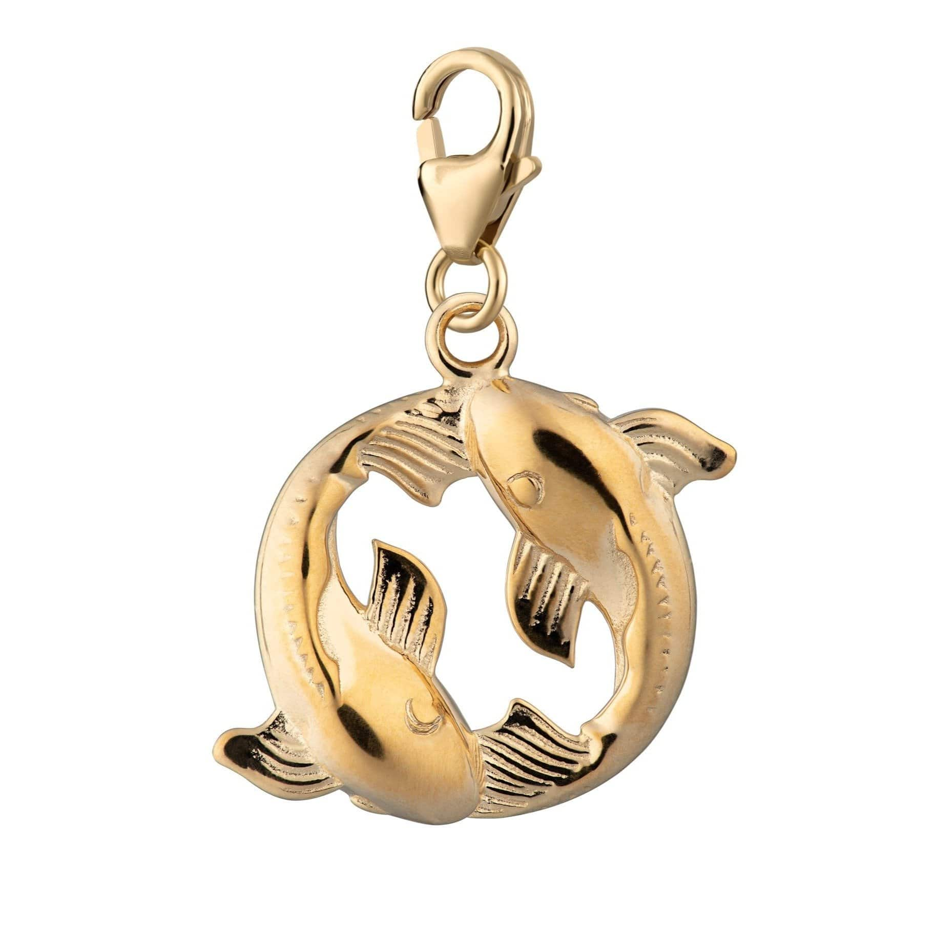 Gold Plated Koi Fish Pisces Zodiac Charm