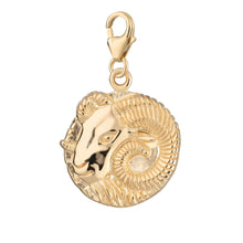 Gold Plated Aries Zodiac Charm - Lily Charmed