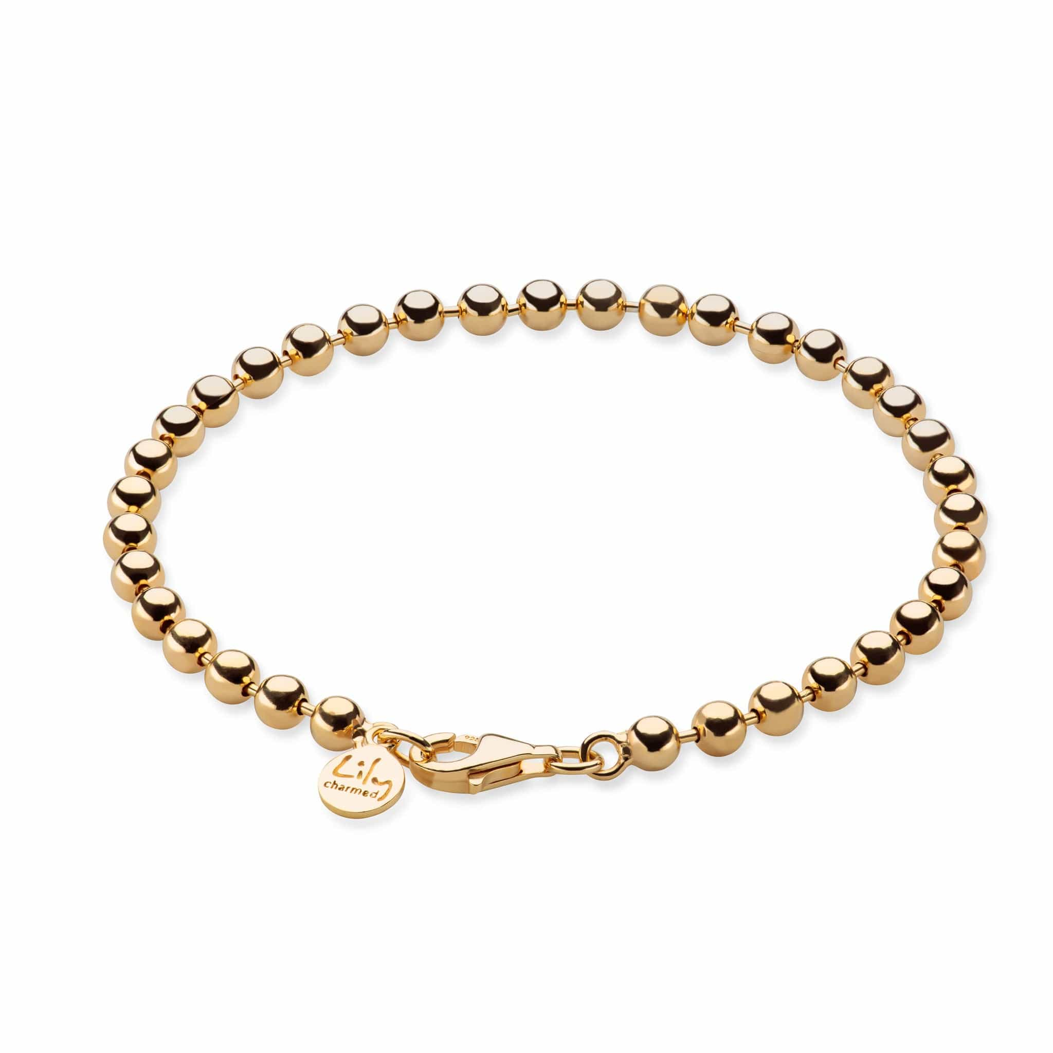 Gold Plated Ball Charm Bracelet