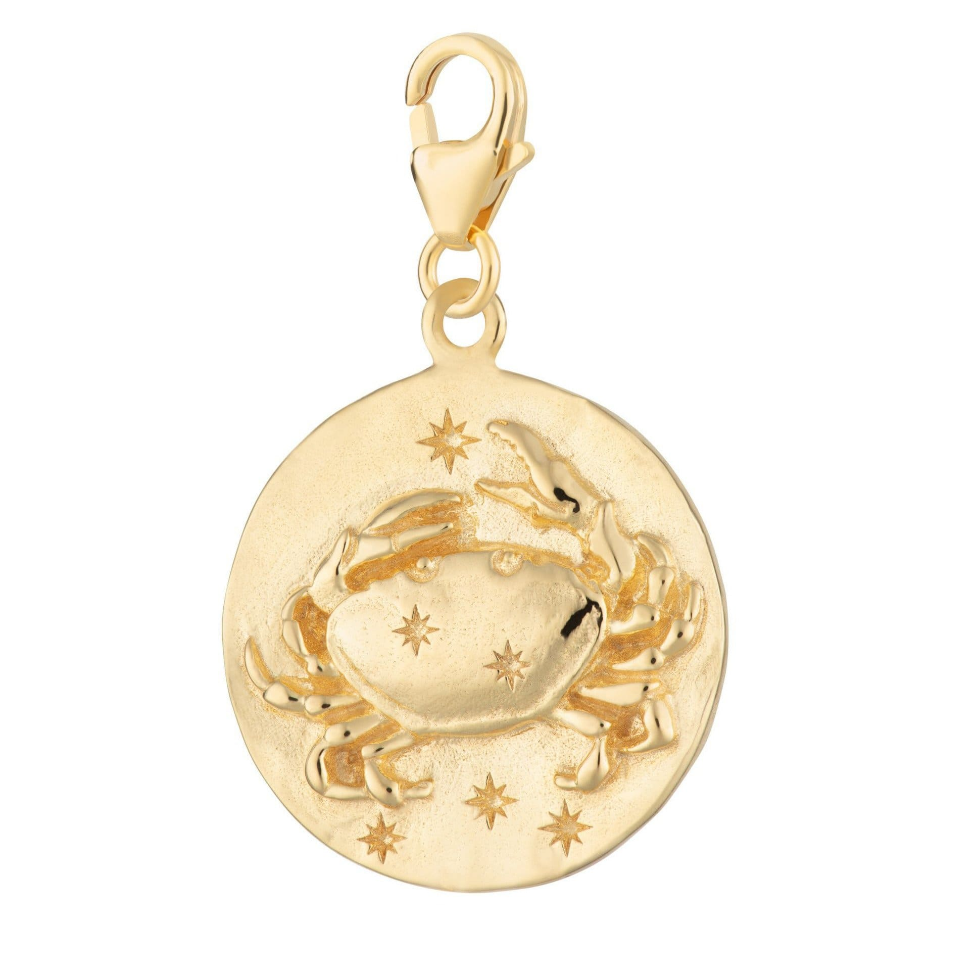 Gold Plated Cancer Zodiac Charm - Lily Charmed