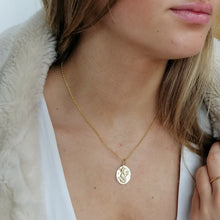 Engraved Gold Plated Capricorn Zodiac Necklace - Lily Charmed