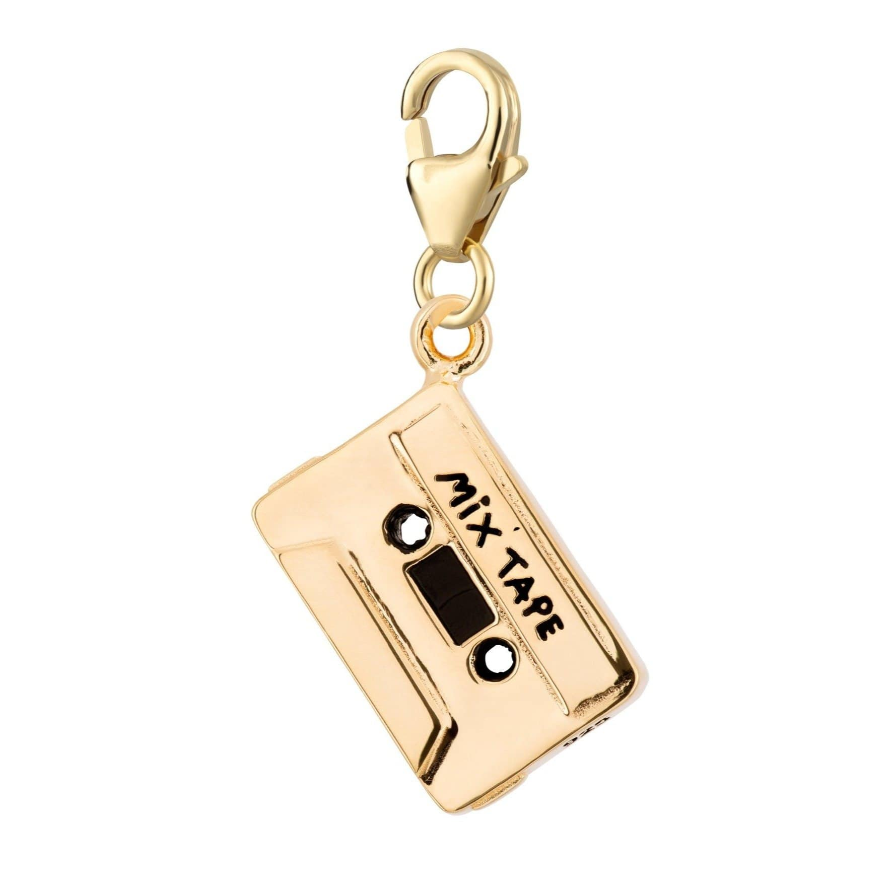 Gold Plated Cassette Tape Charm