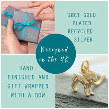 Gold Plated 3D Mermaid Charm