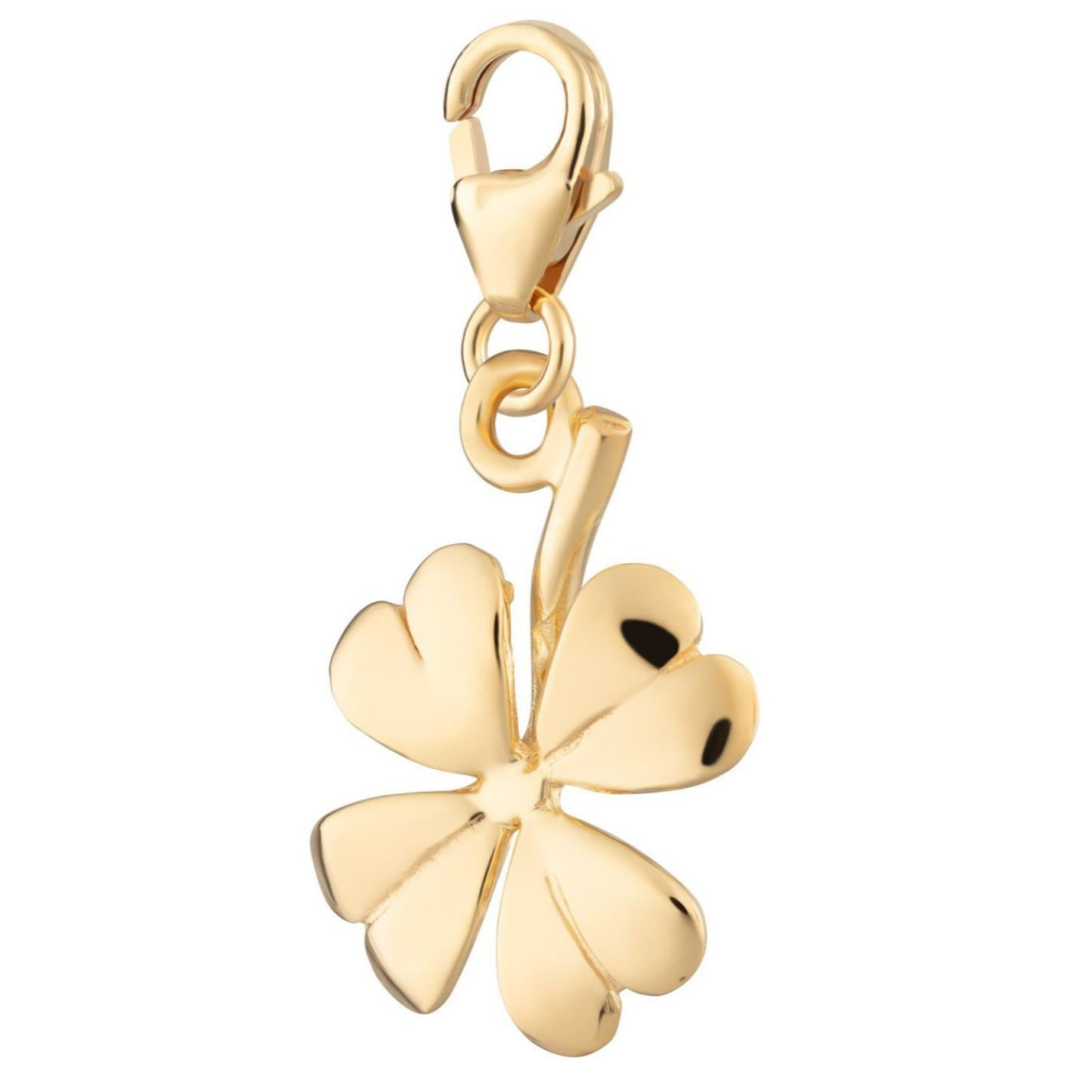 Gold Plated Four Leaf Clover Charm - Lily Charmed