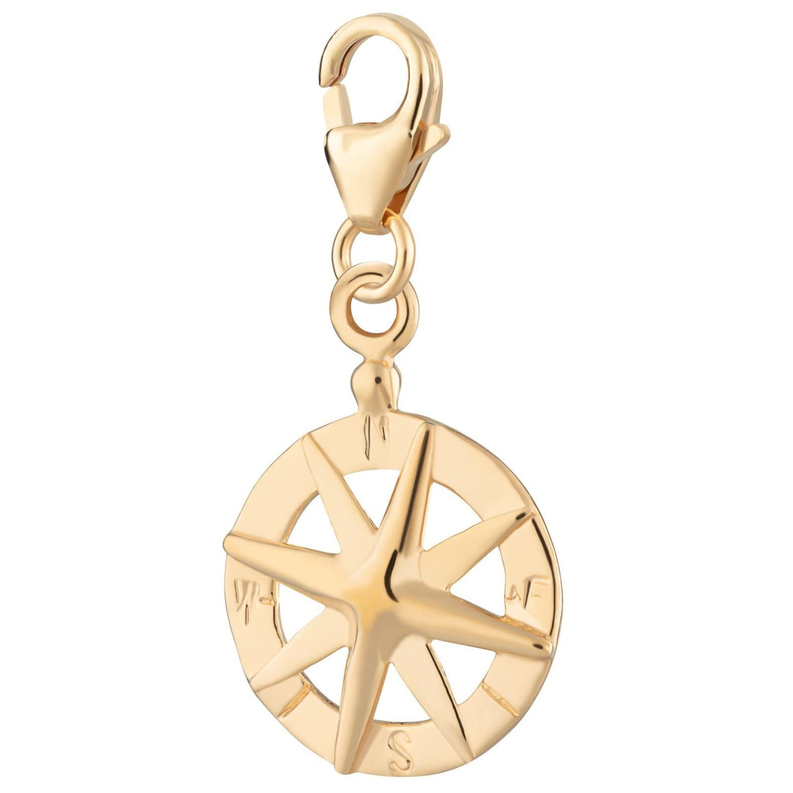 Gold Plated Compass Charm - Lily Charmed
