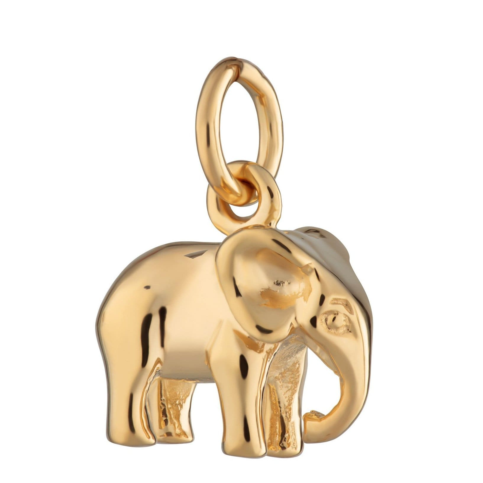 Gold Plated Elephant Charm - Lily Charmed