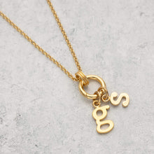 Gold Plated Eternity Charm Collector Necklace by Lily Charmed
