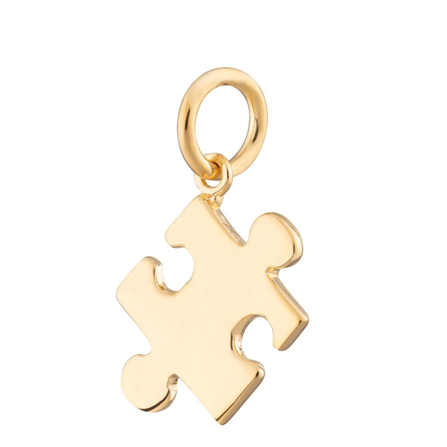 Gold Plated Jigsaw Charm