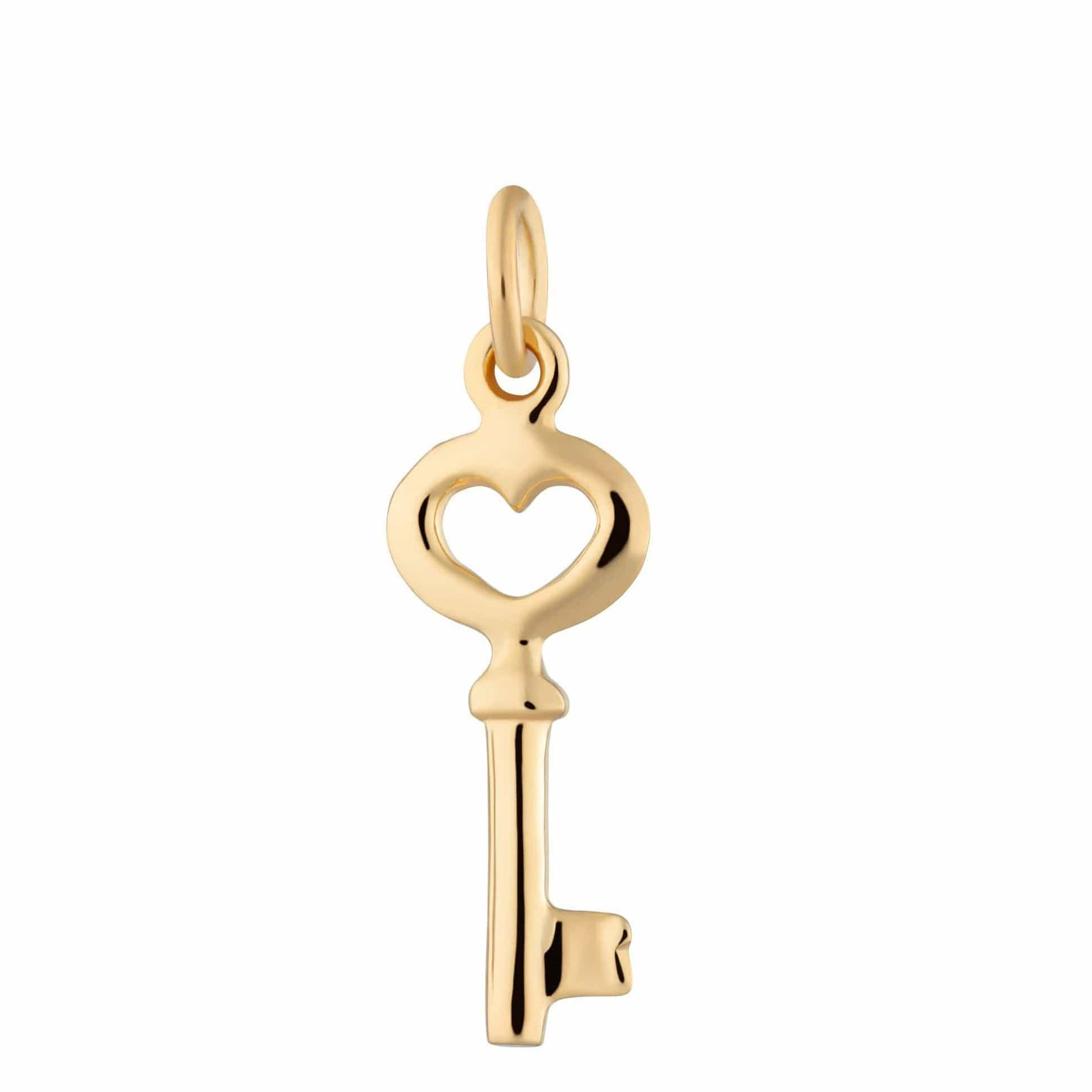 Gold Plated Key Charm - Lily Charmed