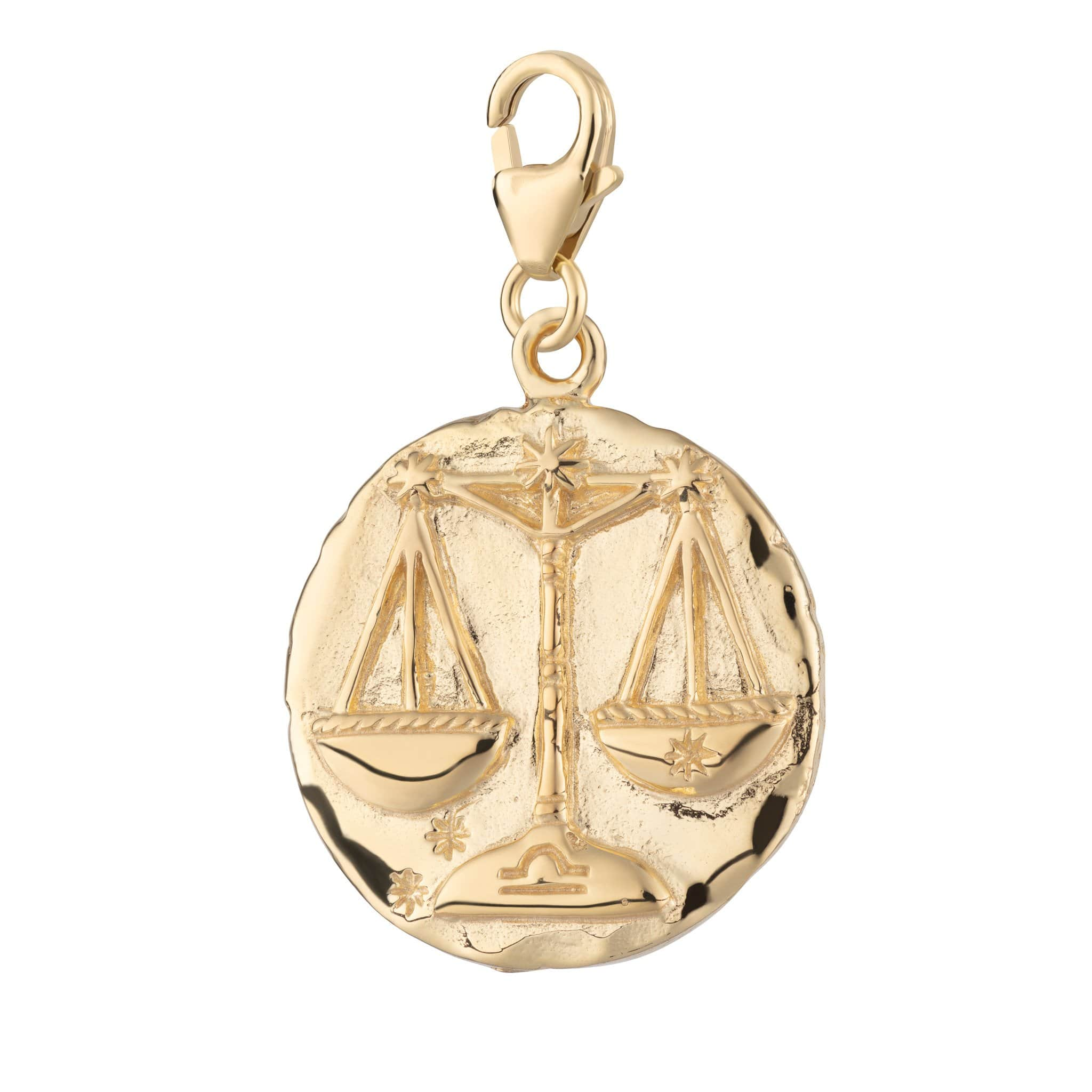 Gold Plated Libra Zodiac Charm - Lily Charmed